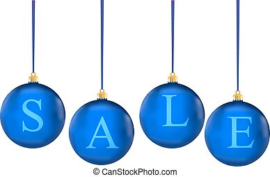 christmas sale in colorful balls