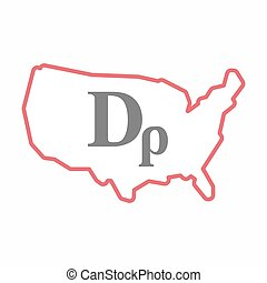 Isolated map of USA with a drachma currency sign -...