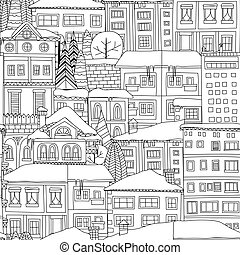Winter town pattern