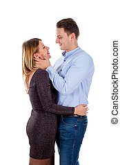 Hapiness all around - Picture of a happy young couple posing...