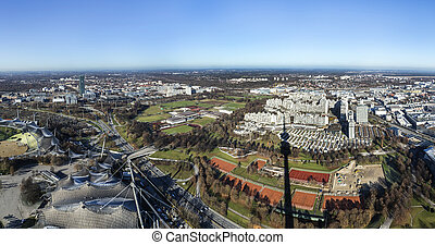View from Olympia tower , Munich, Germany - View from...