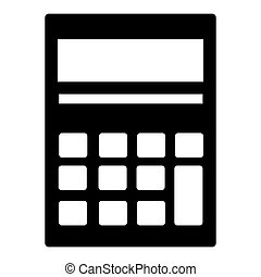 Calculator isolated icon over white background, vector...
