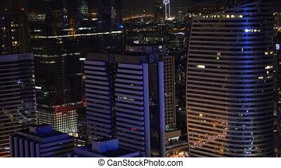 Panorama of Bangkok at night, Thailand