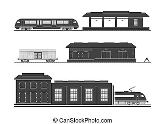 Rail infrastructure: railway station, goods shed and...