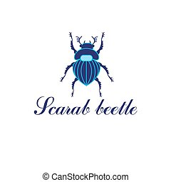 Vector Scarab beetle isolated on a white background