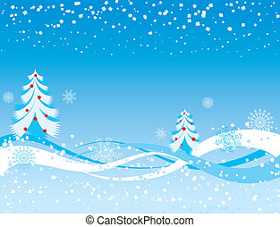 Snowflake background, vector illustration