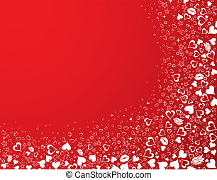 Valentines Day background with Hearts, element for design,...