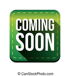 Coming soon button green