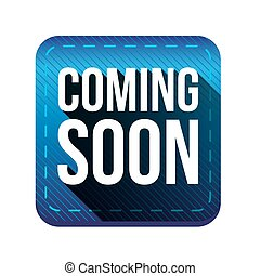 Coming soon button blue