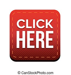 Click Here button vector red