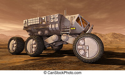 Space rover - 3D CG rendering of a space rover.