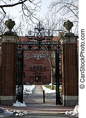 Entrance to Harvard campus - Entrance to the Harvard square...