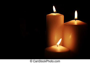 candle light isolated black