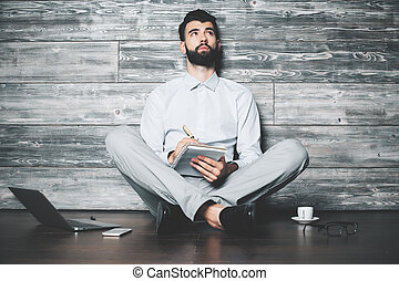 Man with notepad