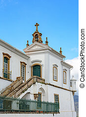 Church tower and stair - Architectural details of a church...