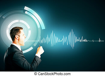 Technology and communication concept - Abstract image of...