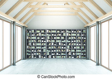 Library with no view