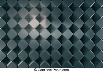 Dark rhombus background/wallpaper. 3D Rendering