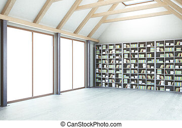 Library with no view side