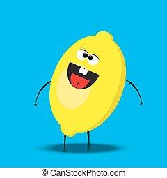 cartoon lemon character
