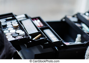 set of cosmetics for professional makeup