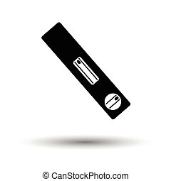 Icon of construction level . White background with shadow...