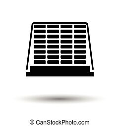 Icon of construction pallet . White background with shadow...