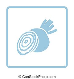 Beetroot  icon. Blue frame design. Vector illustration.