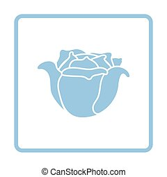 Cabbage icon. Blue frame design. Vector illustration.