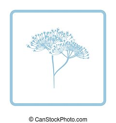 Dill  icon. Blue frame design. Vector illustration.