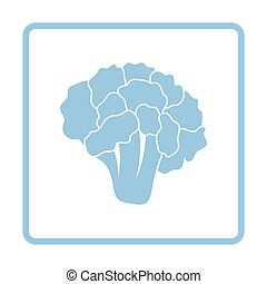 Cauliflower icon. Blue frame design. Vector illustration.