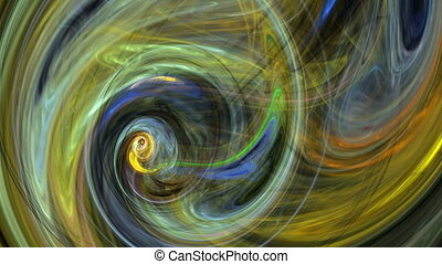Colorful whirlpool abstract background loop - Colorful...