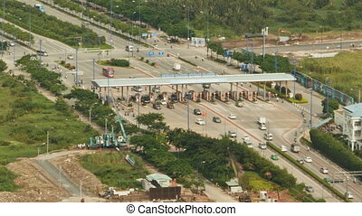 Checkpoint on the road to Ho Chi Minh city. - Checkpoint on...