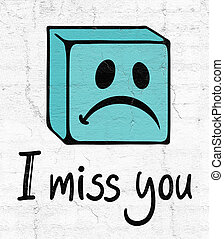 miss you face - design of miss you face