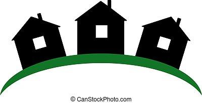 Real estate symbolical image isolated on white background.