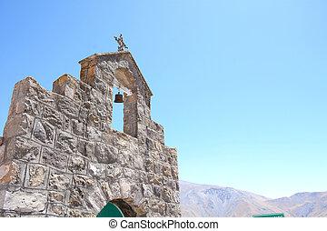 San Rafael chape. Salta, Argentina. - Close up of San Rafael...