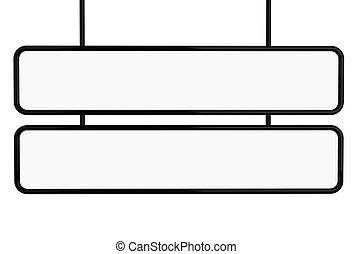 3D Banner mock up. - 3d renderer image. Banner mock up....