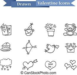 Element valentine day with hand draw