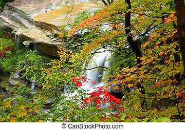 Brandywine water falls - Beautiful Brandywine water falls in...
