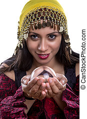 Close up of Fortune Teller and Crystal Ball