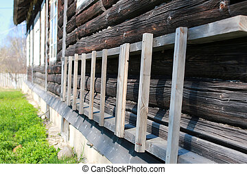 wood texture outdoor - various objects of the spring season...