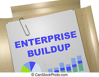 Enterprise Buildup - business concept - 3D illustration of...