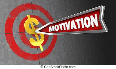 3d motivation arrow