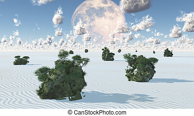 White Sands with Rock Islands Oasis