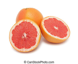 Grapefruits, isolated - Fresh grapefruits, isolated on a...