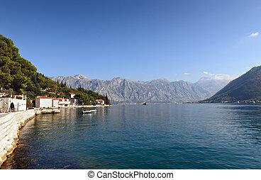 Perast town Montenegro - Perast town, Kotor bay, Montenegro,...