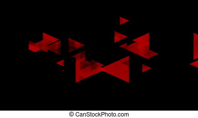 Tech red black video animation with triangles - Tech red...