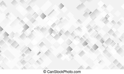 Abstract light grey moving squares animated background....