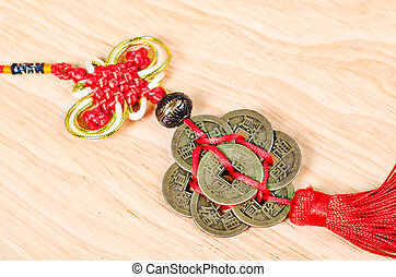 Lucky knot for Chinese new year greeting.