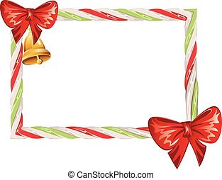 Candy Cane Frame - Frame made of sweet tasty candy cane...